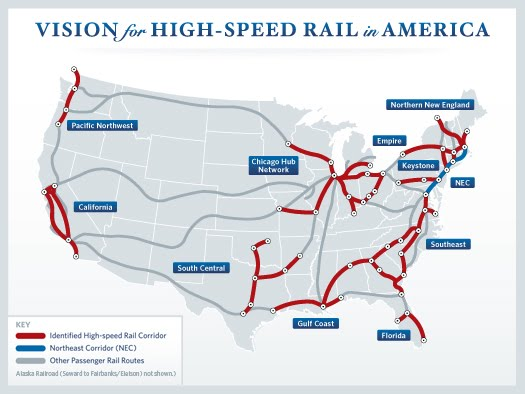 take for instance the issue of high sd rail the obama administration has allocated something a bit over 8 billion to several states for preliminary