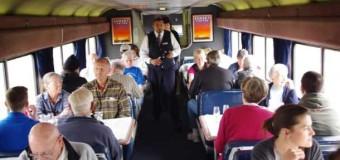 An Educational Breakfast in an Amtrak Dining Car