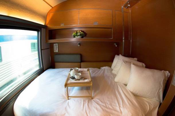 Via rail introduces prestige class service and it s a Via rail canada cabin for 2