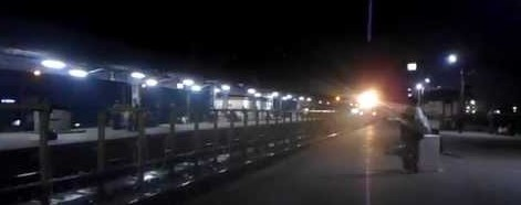 Platform at night
