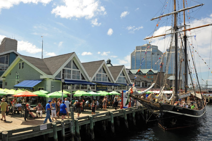 The Halifax waterfront features restaurants and a wonderful maritime museum.