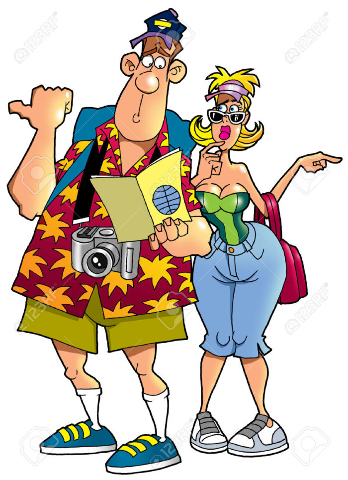 24393064-tourists-with-a-map--Stock-Photo-cartoon-vacation-tourist