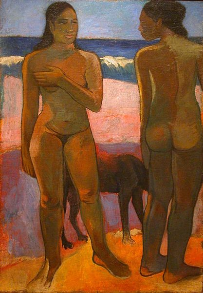417px-Gauguin painting_Two_Nudes_on_a_Tahitian_Beach